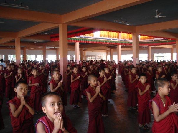 Templo budista tibetano en el estado de Karnataka