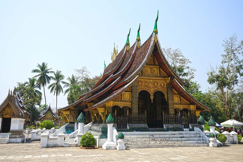 Templo de Luang Prabang en Laos