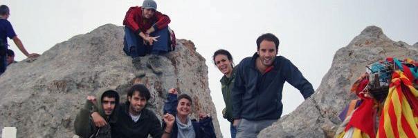 en la cima del Pedraforca