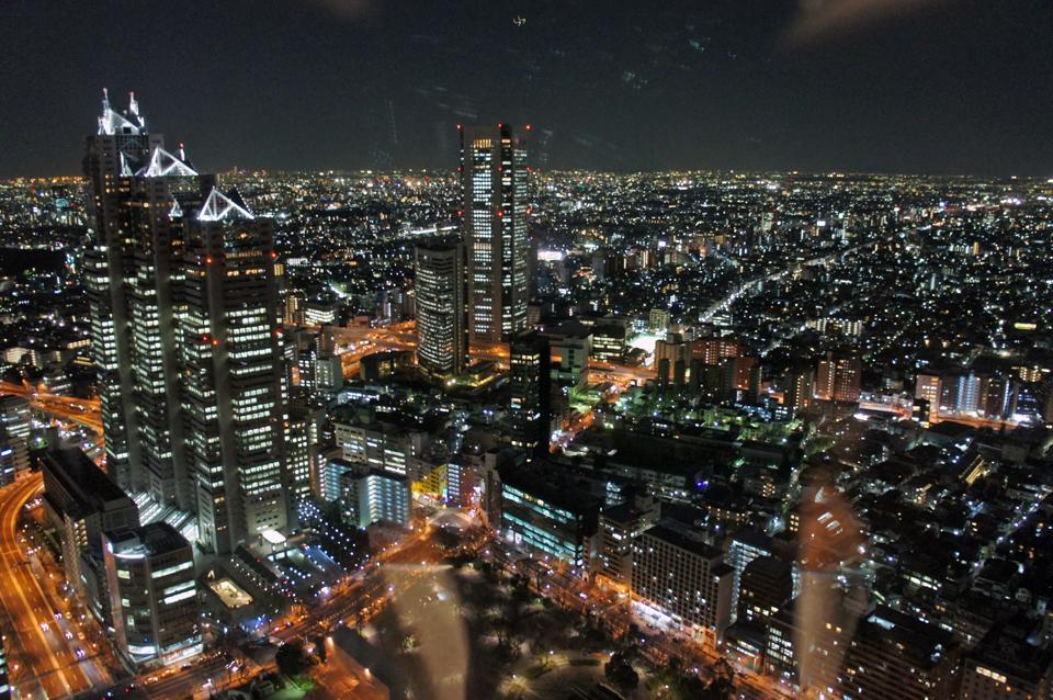Vistas de Tokyo por la noche