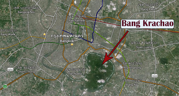 Bang Krachao en Google Maps