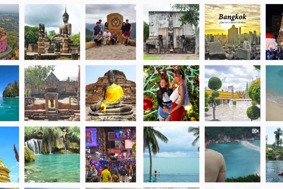 Instagram de Tailandia