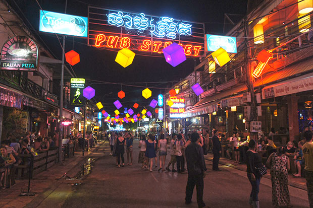 Pub Street de Siem reap